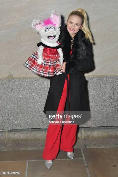 Ventriloquist Darci Lynne Farmer attends the 86th Annual Rockefeller Center Christmas Tree Lighting Ceremony at Rockefeller Center on November 28...