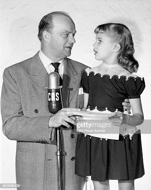 Ventriloquist Edgar Bergen and his six year old daughter Candice Bergen on CBS Radios Edgar Bergen Charlie McCarthy Show Image dated Image dated...