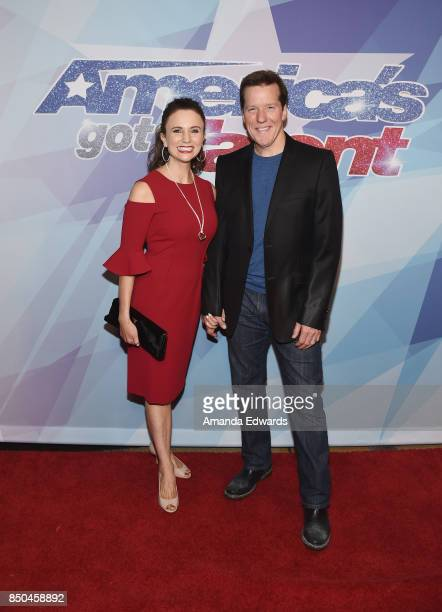 Ventriloquist Jeff Dunham and Audrey Murdick attend NBC's America's Got Talent Season 12 Finale at the Dolby Theatre on September 20 2017 in...