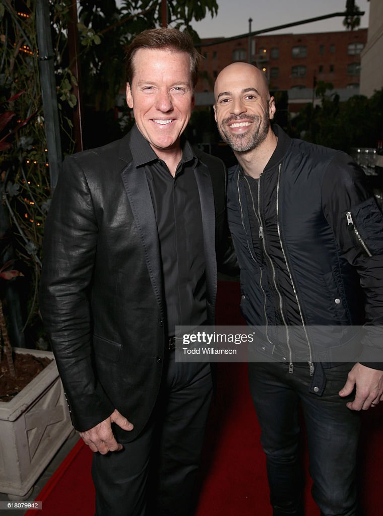 Ventriloquist Jeff Dunham and singer/songwriter Chris Daughtry attend the Hollywood Walk of Fame Honors at Taglyan Complex on October 25, 2016 in Los Angeles, California.