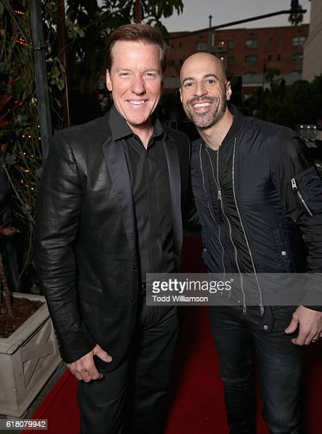 Ventriloquist Jeff Dunham and singer/songwriter Chris Daughtry attend the Hollywood Walk of Fame Honors at Taglyan Complex on October 25 2016 in Los...