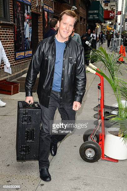 Ventriloquist Jeff Dunham leaves the 'Late Show With David Letterman' taping at the Ed Sullivan Theater on November 13 2014 in New York City