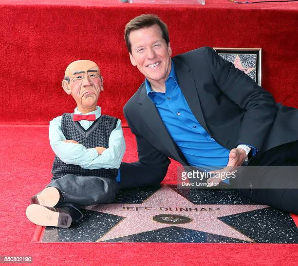 Ventriloquist Jeff Dunham with Walter attends his being honored with a Star on the Hollywood Walk of Fame on September 21 2017 in Hollywood California
