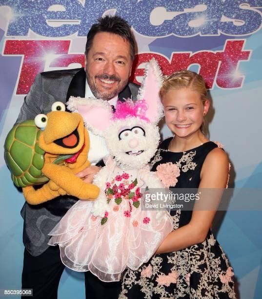 Ventriloquist Terry Fator and Season 12 winner ventriloquist Darci Lynne Farmer attends NBC's America's Got Talent season 12 finale at Dolby Theatre...