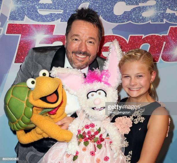 Ventriloquist Terry Fator and Season 12 winner ventriloquist Darci Lynne Farmer attends NBC's 'America's Got Talent' season 12 finale at Dolby...