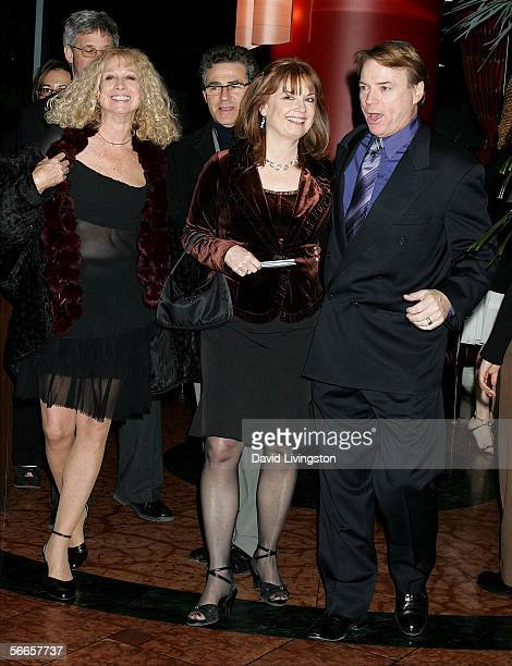 Ventriloquist/comedian Jay Johnson his wife Sandi and codirectors Paul Kreppel and Murphy Cross arrive for the afterparty following the opening night...