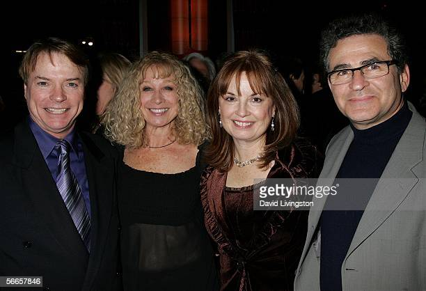 Ventriloquist/comedian Jay Johnson Murphy Cross Johnson's wife Sandi and Paul Kreppel attend the afterparty following the opening night of Johnson's...