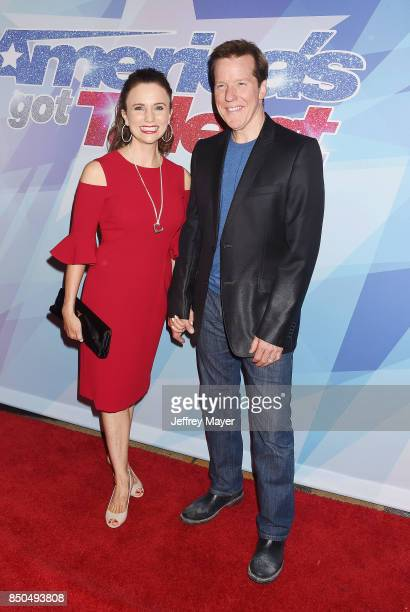 Ventriloquistcomedian Jeff Dunham and fitness model Audrey Murdick attend NBC's 'America's Got Talent' Season 12 Finale at the Dolby Theatre on...