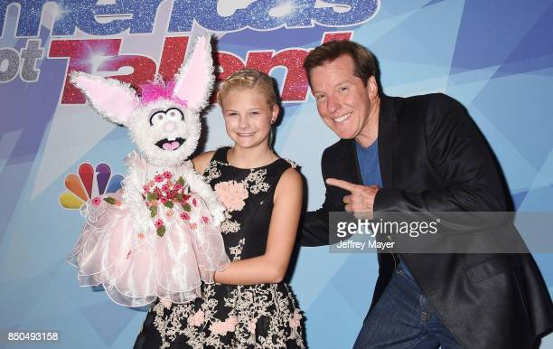 Ventriloquists Darci Lynne Farmer and Jeff Dunham attend NBC's 'America's Got Talent' Season 12 Finale at the Dolby Theatre on September 20 2017 in...