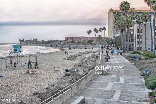 Ventura California Beach with Visitors