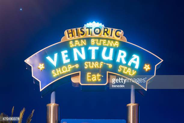 Ventura California Neon Sign at Night