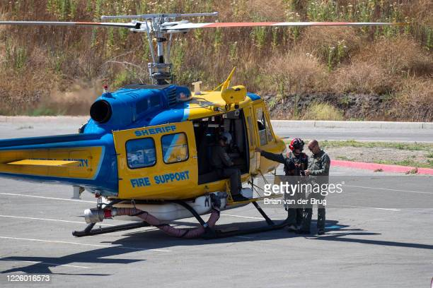 Ventura County crews prepare to deploy to search for missing actress Naya Rivera at Lake Piru on Thursday, July 9, 2020 in Lake Piru, CA.