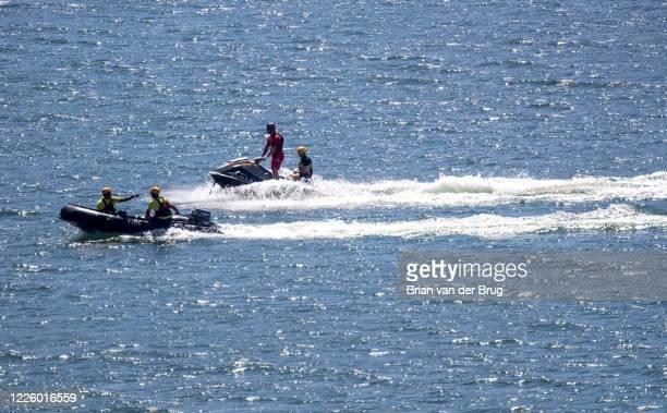 Ventura County crews search Lake Piru for missing actress Naya Rivera, who is missing on Thursday, July 9, 2020 in Lake Piru, CA.