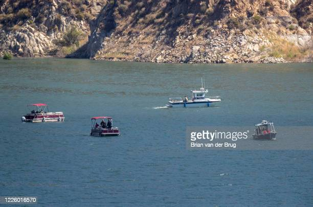 Ventura County crews search Lake Piru for missing actress Naya Rivera, who is missing on Thursday, July 9, 2020 in Lake Piru, CA.