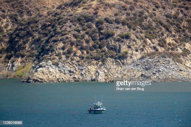 Ventura County crews search Lake Piru for missing actress Naya Rivera who is missing on Thursday July 9 2020 in Lake Piru CA