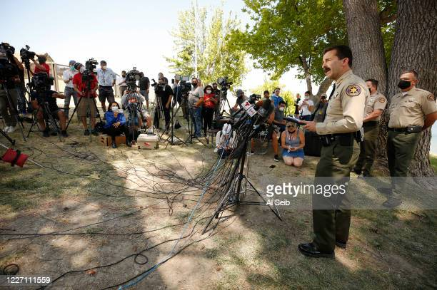 Ventura County Sheriff Bill Ayub addresses a press conference after Ventura County Sheriffs Search and Rescue dive team located a body Monday morning...