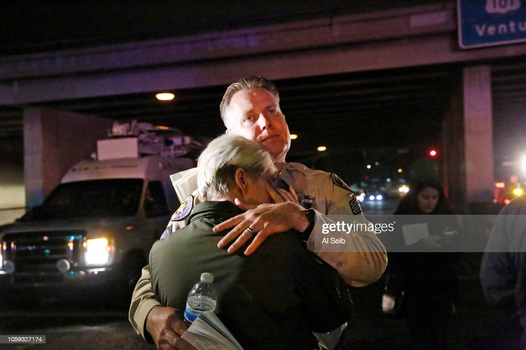 12 Dead After Mass Shooting At Country Western Bar In Southern California : ニュース写真