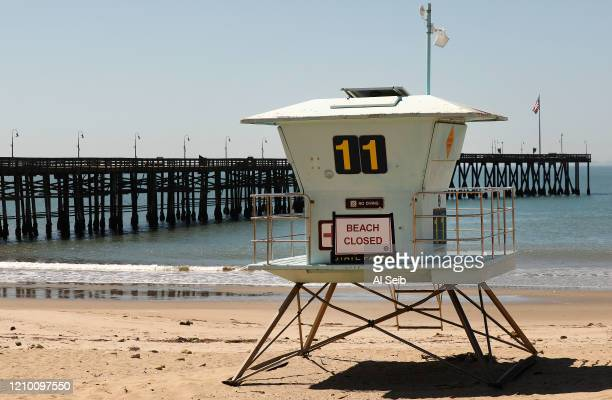 Ventura Promenade Beach Playground is closed as Ventura City has closed its parks beach and pier on Wednesday morning as the sunshine and warm...