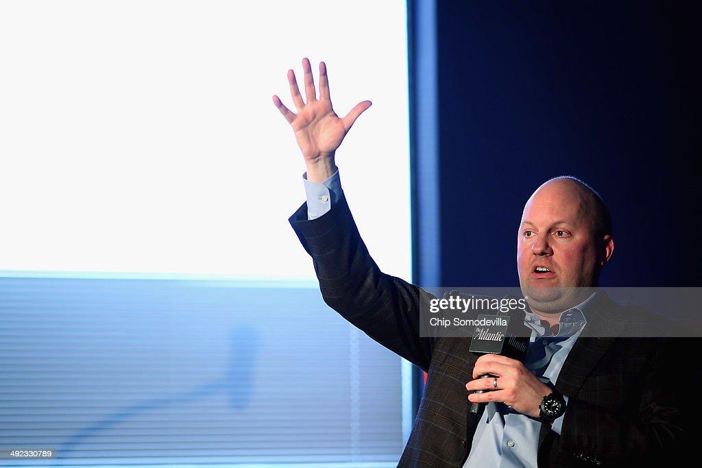 Venture Capitalist And Netscape Founder Marc Andreessen Speaks In Washington : News Photo