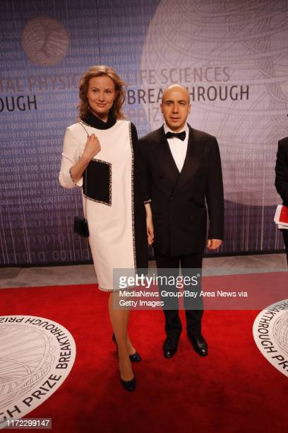 Venture Capitalist Yuri Milner and his wife Julia Milner arrive on the red carpet at the Breakthrough Prizes an awards ceremony that's been likened...