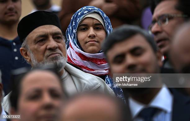 S Venture Scout Hidayah Martinez Jaka listens to remarks by Democratic presidential candidate Martin O'Malley following a noon service at the ADAMS...