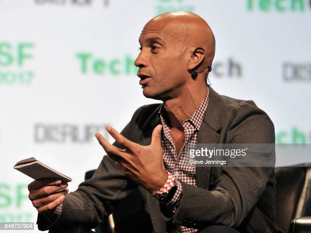Ventures CoFounder Adrian Fenty speaks onstage during TechCrunch Disrupt SF 2017 at Pier 48 on September 19 2017 in San Francisco California