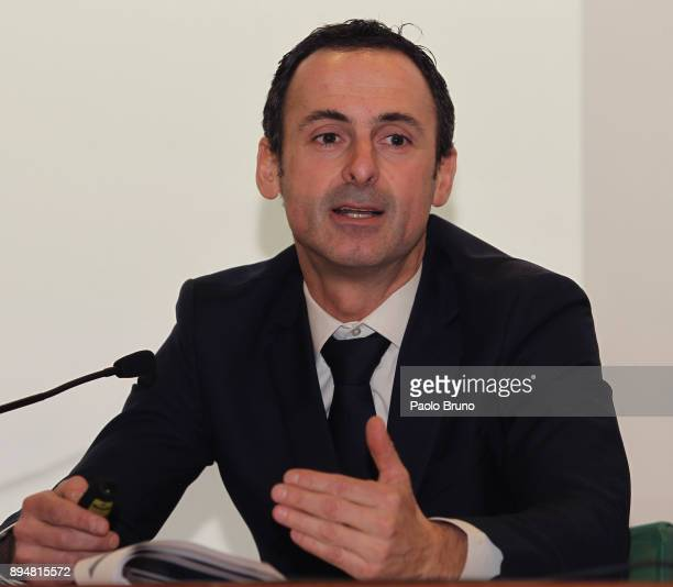 Venue Director Giovanni Pifarotti attends the Italian football federation meeting for administrative roles at Stadio Olimpico on December 18 2017 in...