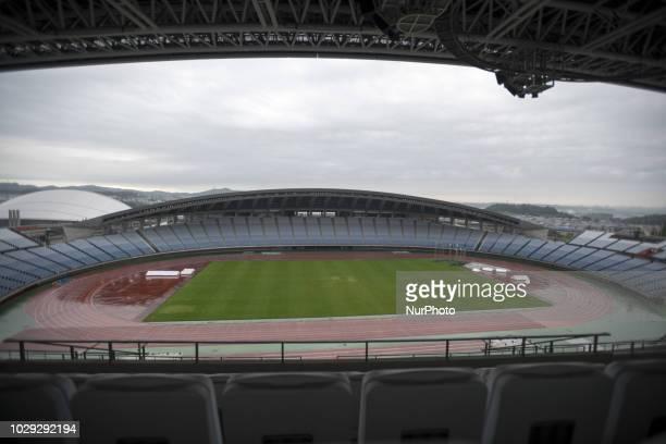 Venue for Tokyo 2020 football games Grande 21 Miyagi Stadium 8 September 2018 Rifu Japan The largest stadium in the Tohoku region is available for...