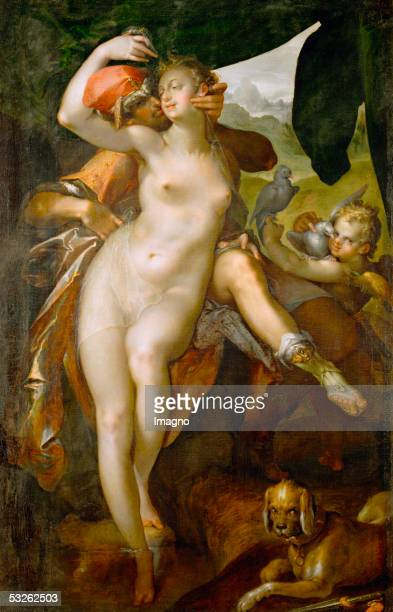 Venus and Adonis around 1595 Canvas 163 x 1043 cm Inv 2526 [Venus und Adonis um 1595 Leinwand 163 x 1043 cm Inv 2526]