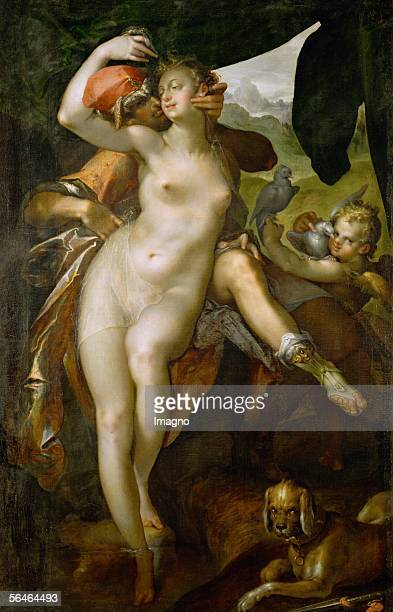 Venus and Adonis around 1595 Canvas 163 x 1043 cm Inv 2526 [Venus und Adonis um 1595 Leinwand 163 x 1043 cm Inv 2526]