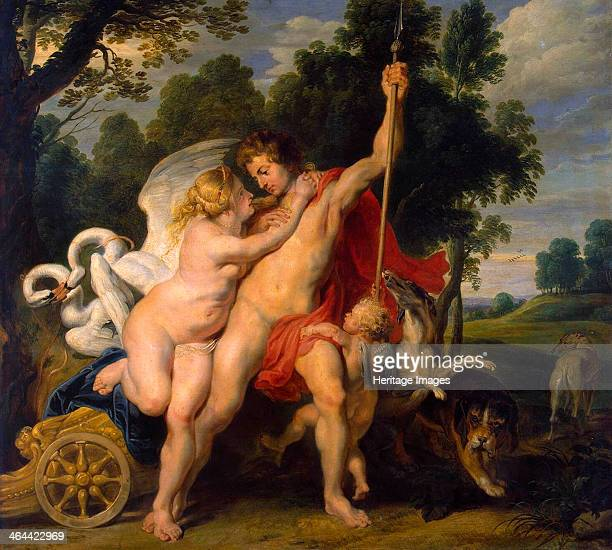 'Venus and Adonis' c1614 Rubens Pieter Paul Found in the collection of the State Hermitage St Petersburg