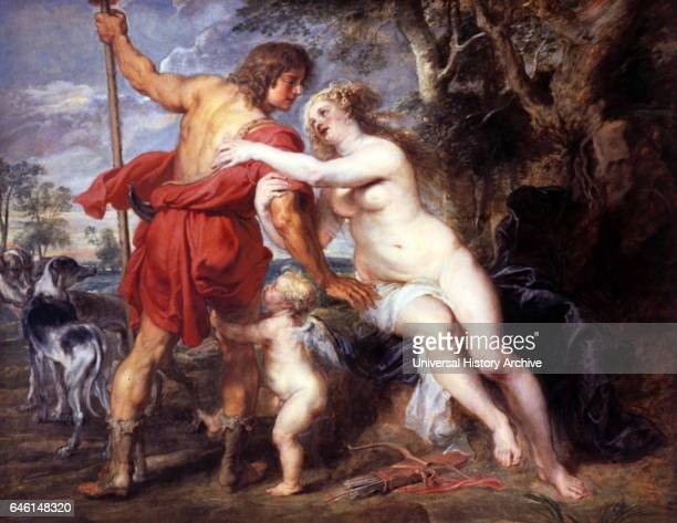 Venus and Adonis mid1630s Oil on canvas By Peter Paul Rubens Based upon Ovids story Metamorphoses Pricked by one of Cupids arrows Venus falls in love...
