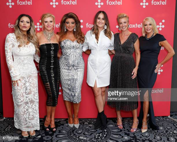 Venus BehbahaniClark Gamble Breaux Gina Liano Lydia Schiavello Jackie Gillies and Janet Roach arrive at a Real Housewives of Melbourne Season 4 Media...