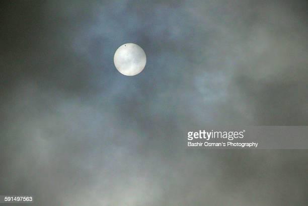Venus crosses sun