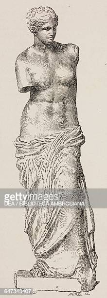 Venus de Milo engraving by Hurel based on a drawing by Gaillard from ParisGuide by leading writers and artists of France Volume 1 ScienceArt 1867