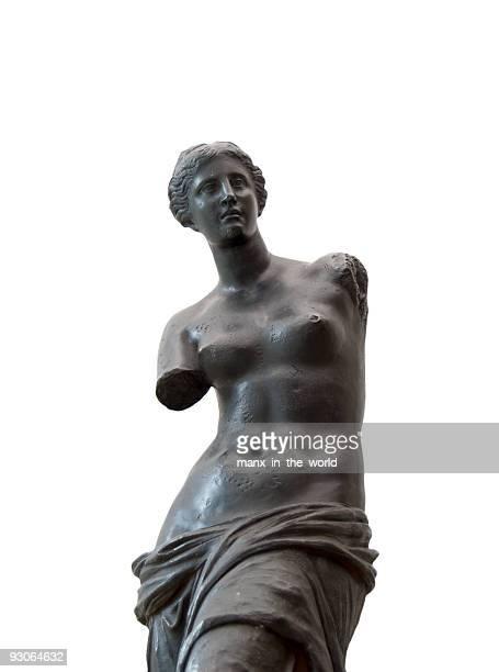 venus de milo in black - roman goddess stock pictures, royalty-free photos & images