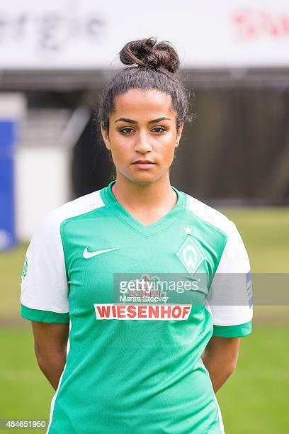 Venus ElKassen poses during the official team presentation of Werder Bremen women's at Weserstadion on August 20 2015 in Bremen Germany