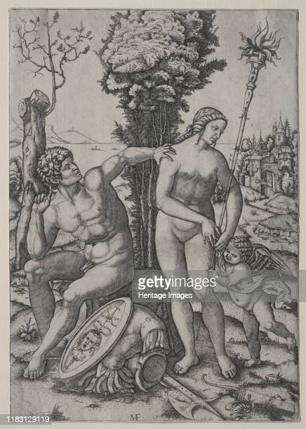 Venus Mars and Cupid 1508 Raimondis fascination with ancient marbles is evident in this allegory of love triumphant over war He used the Belvedere...