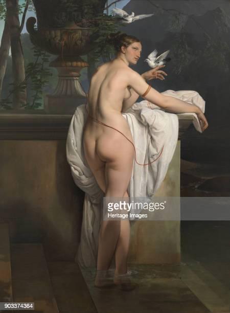Venus Playing with Two Doves Found in the Collection of Museo di arte moderna e contemporanea di Trento e Rovereto