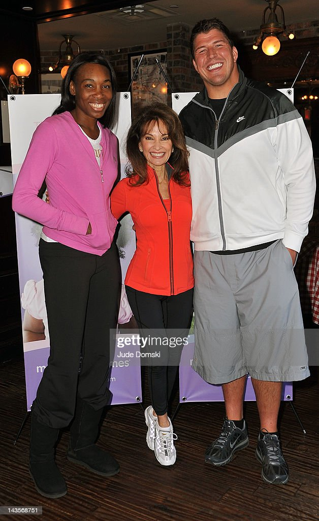 Venus Williams, Actress Susan Lucci and New York Giants lineman David Diehl attend the 2012 March of Dimes March for Babies on the Streets of Manhattan on April 29, 2012 in New York City.