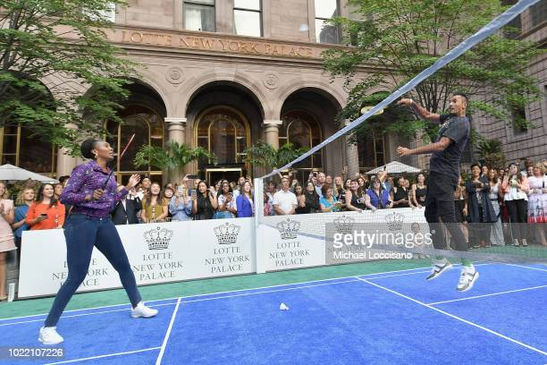 Venus Williams and Nick Kyrgios attend 2018 Lotte New York Palace Invitational on August 23 2018 in New York City