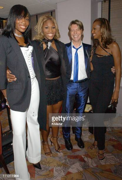 Venus Williams and Serena Williams David Bowie and Iman