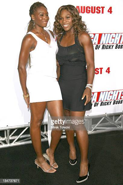 Venus Williams and Serena Williams during Talladega Nights Los Angeles Premiere Arrivals at Grauman's Chinese Theater in Hollywood California United...