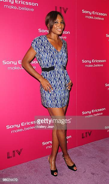 Venus Williams arrives at Sony Ericsson Open KickOff Party at LIV nightclub at Fontainebleau Miami on March 23 2010 in Miami Beach Florida