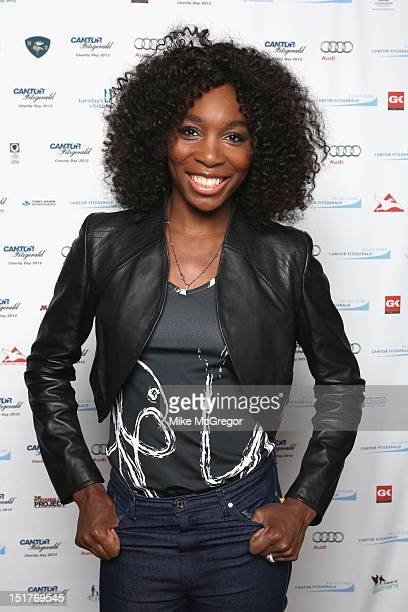 Venus Williams attends Cantor Fitzgerald BGC Partners host annual charity day on 9/11 to benefit over 100 charities worldwide at Cantor Fitzgerald on...