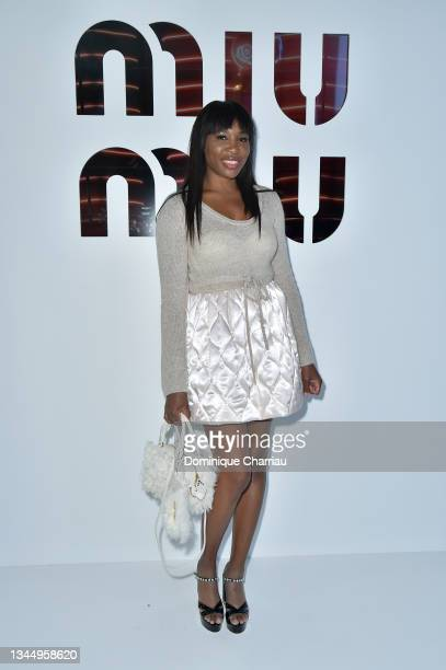 Venus Williams attends Miu Miu show Photocall as part of the Paris Fashion Week - Womenswear Spring Summer 2022 on October 05, 2021 in Paris, France.