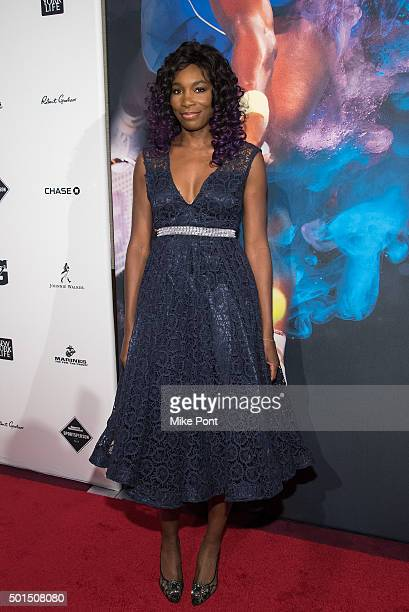 Venus Williams attends the 2015 Sports Illustrated Sportsperson Of The Year Ceremony at Pier Sixty at Chelsea Piers on December 15 2015 in New York...