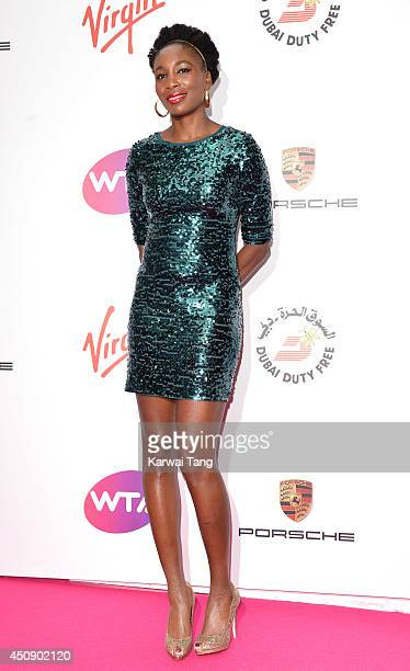 Venus Williams attends the WTA PreWimbledon party at Kensington Roof Gardens on June 19 2014 in London England