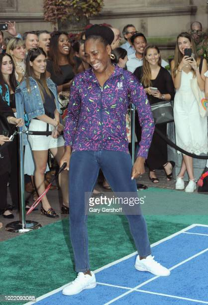 Venus Williams competes during the 2018 Palace Invitational Badminton Tournament at Lotte New York Palace on August 23 2018 in New York City