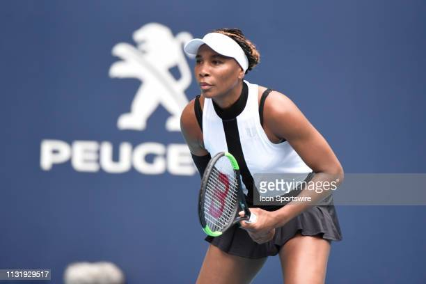 Venus Williams during the Miami Open on March 21 at the Hard Rock Stadium in Miami Gardens FL